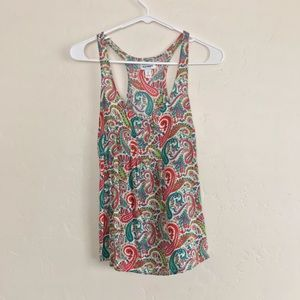 Old Navy Paisley Printed Racerback Blouse Small